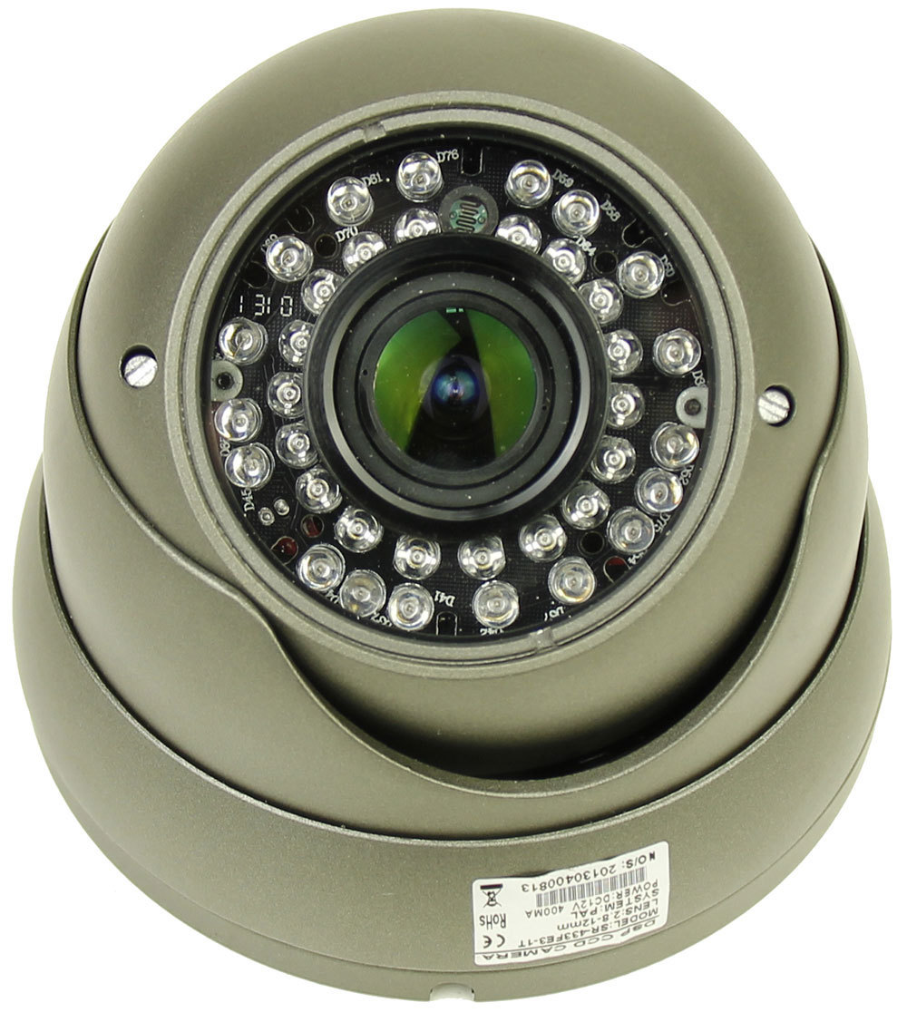 "CCTV 700TVL 1/3"" Sony CCD F1.2 Vari-focal 2.8-12mm Zoom Lens IR Indoor Camera"