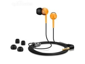 Sennheiser CX215 Black & Orange Headphones iPhone iPod Mp3