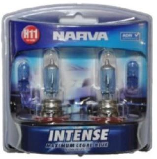 Narva H11 Intense Maximum Legal Blue Headlight Bright White Globes With Plus 30