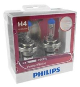 Philips Power Vision H4 Globe 12V 60/55w (Twin Pack)