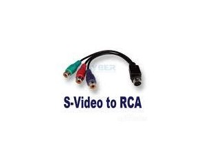S Video / S-Video to RCA Cable Splitter
