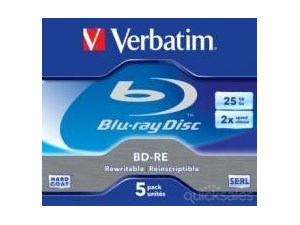 Verbatim Blu-Ray / Bluray BD-RE 25GB 5Pk 2x