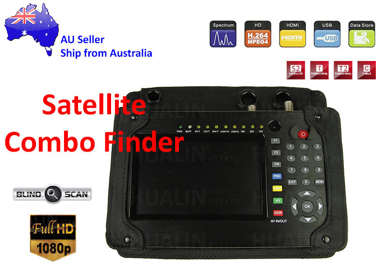 Satellite Terrestrial Meter DVB-S2/T2/C Finder DPL/BER/MER Spectrum Analyzer
